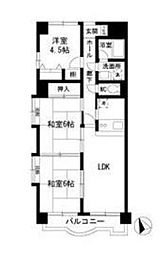 トレンディーイマI[3階]の間取り