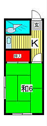 小川コーポラス[4階]の間取り