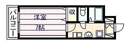 にしみマンション[3階]の間取り