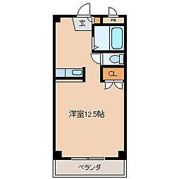 ウッドハウス[207号室]の間取り