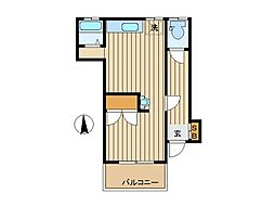 東京都杉並区阿佐谷北5丁目の賃貸アパートの間取り