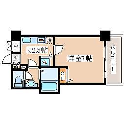 兵庫県神戸市中央区八幡通1丁目の賃貸マンションの間取り