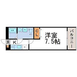兵庫県尼崎市南塚口町5丁目の賃貸アパートの間取り