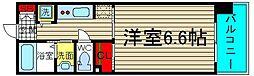 ル・パルトネール難波[701号室]の間取り