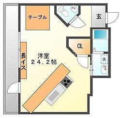 ディアハウス[3階]の間取り