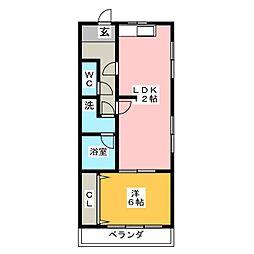 グリーンビラ22[2階]の間取り