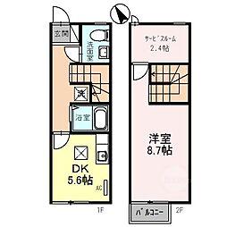 [テラスハウス] 滋賀県湖南市岩根中央2丁目 の賃貸【/】の間取り