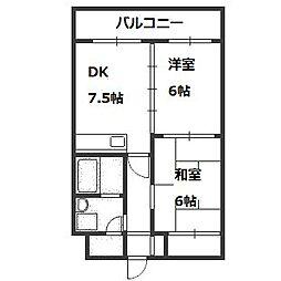 北海道札幌市豊平区西岡三条13丁目の賃貸マンションの間取り