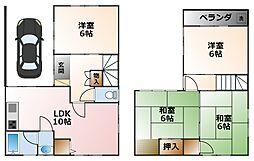 [一戸建] 兵庫県西宮市甲子園浜田町 の賃貸【/】の間取り