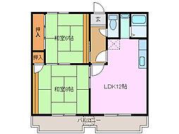 センチュリーハイツ21[1階]の間取り