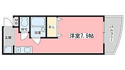京都府京都市伏見区醍醐東合場町の賃貸マンションの間取り
