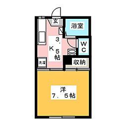 保春寮[1階]の間取り