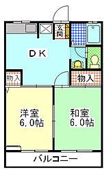 シェモアA[2階]の間取り