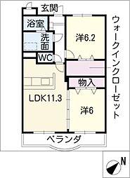 ルピナス B棟[1階]の間取り