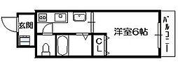 タウンコート新深江[3階]の間取り