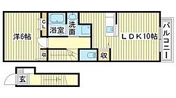 ドゥー・ファミーユI[2階]の間取り