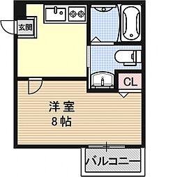 ハスラーKM[402号室号室]の間取り