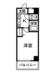 コートビュータワー[205号室]の間取り