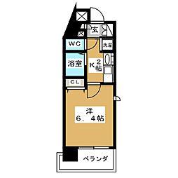 プレサンス京都駅前千都[3階]の間取り