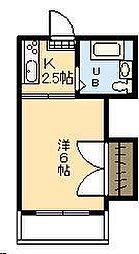 第6三重野ビル[401号室]の間取り