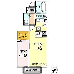 (仮)D-room小川 B棟[1階]の間取り
