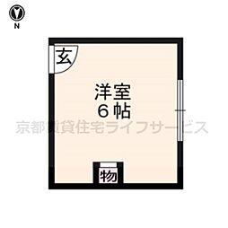 sharely京都三条[1号室]の間取り