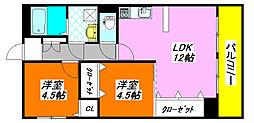 シティコーポ・長田 205号室[2階]の間取り