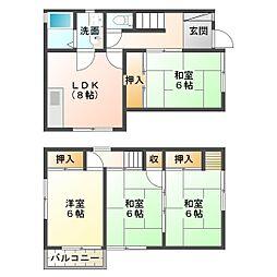 [一戸建] 兵庫県神戸市垂水区平磯2丁目 の賃貸【/】の間取り