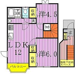 南新木ヒルズハイツIII[1-201号室]の間取り
