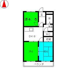 ニュータウンビル[6階]の間取り