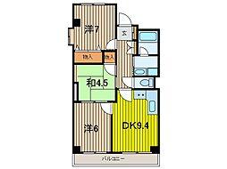 DIVINE西浦和[3階]の間取り