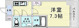 Osaka Metro堺筋線 南森町駅 徒歩9分の賃貸マンション 10階1Kの間取り