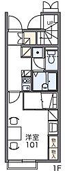 レオパレスグランディア[2階]の間取り