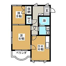 ヒルズカノ[1階]の間取り