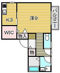 大阪府吹田市西の庄町の賃貸アパートの間取り