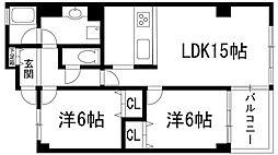 兵庫県宝塚市旭町3丁目の賃貸マンションの間取り
