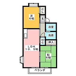 ベルクハイム[2階]の間取り