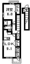 アーバニタ・リキ[2階]の間取り