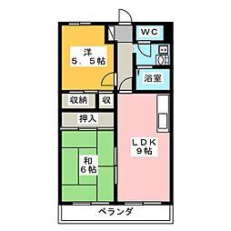 シャトー下恵土[4階]の間取り