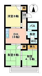 フラットM[2階]の間取り