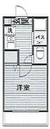 神奈川県大和市林間2丁目の賃貸マンションの間取り