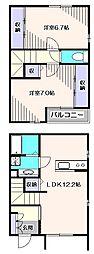 [テラスハウス] 東京都西東京市向台町1丁目 の賃貸【/】の間取り