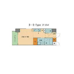 ST PLAZA AYUCHI[6階]の間取り