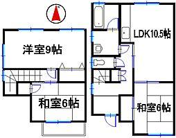 [タウンハウス] 兵庫県姫路市田寺東3丁目 の賃貸【/】の間取り