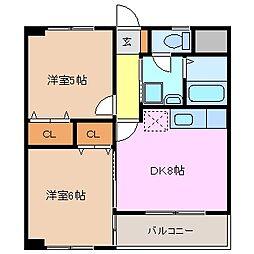 CASAKAWAGE[3階]の間取り