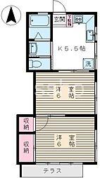東京都練馬区中村南1丁目の賃貸アパートの間取り