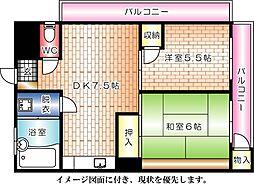 第2間ビル--[501号室]の間取り