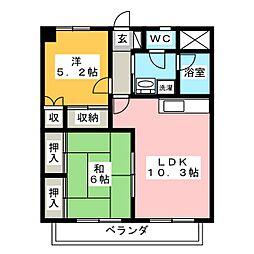 エクレール21 II[1階]の間取り