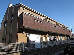 東京都東久留米市新川町1丁目の賃貸アパートの外観