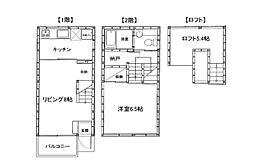 [タウンハウス] 神奈川県横浜市神奈川区入江1丁目 の賃貸【/】の間取り